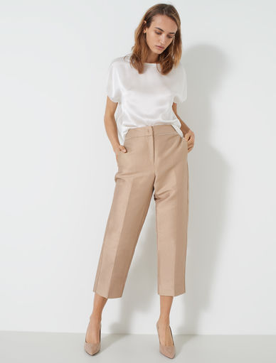 Pantalon en shantung Marella