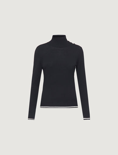 Polo neck jumper with buttons Marella
