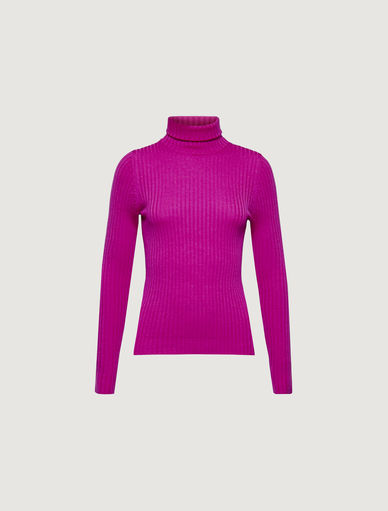 Ribbed polo neck jumper  Marella