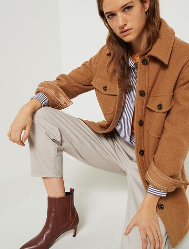 Giacca-camicia in lana Marella