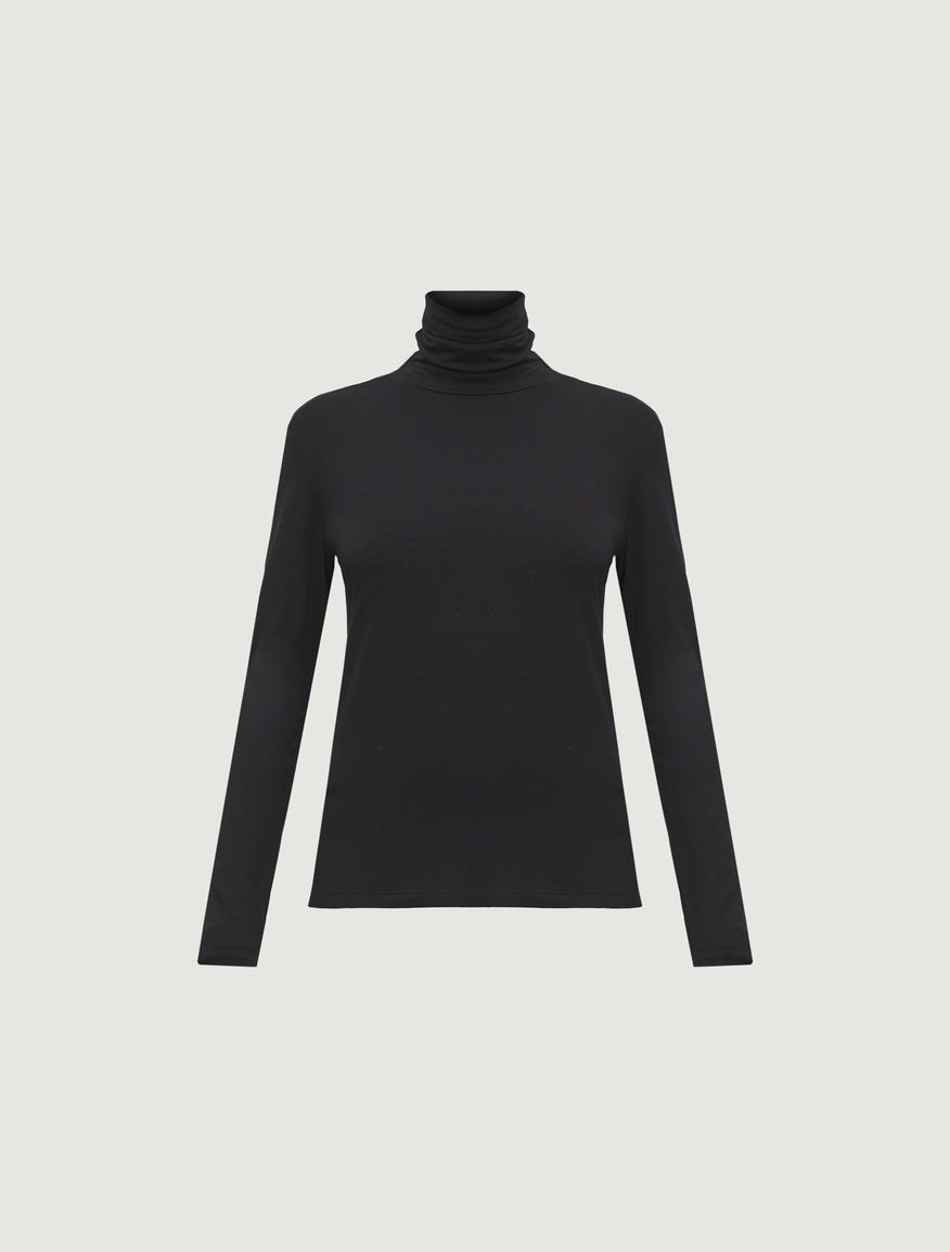 Jersey polo neck jumper Marella