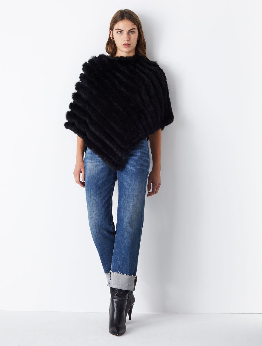 Rabbit fur poncho Marella