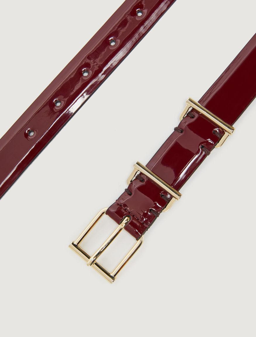 Patent leather belt Marella
