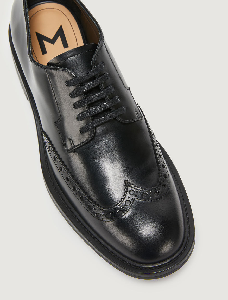 Leather derby shoes Marella