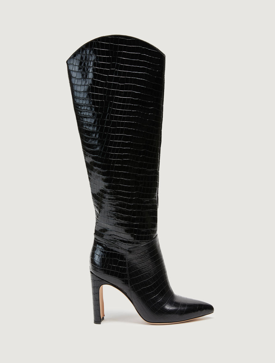 Leather boots Marella