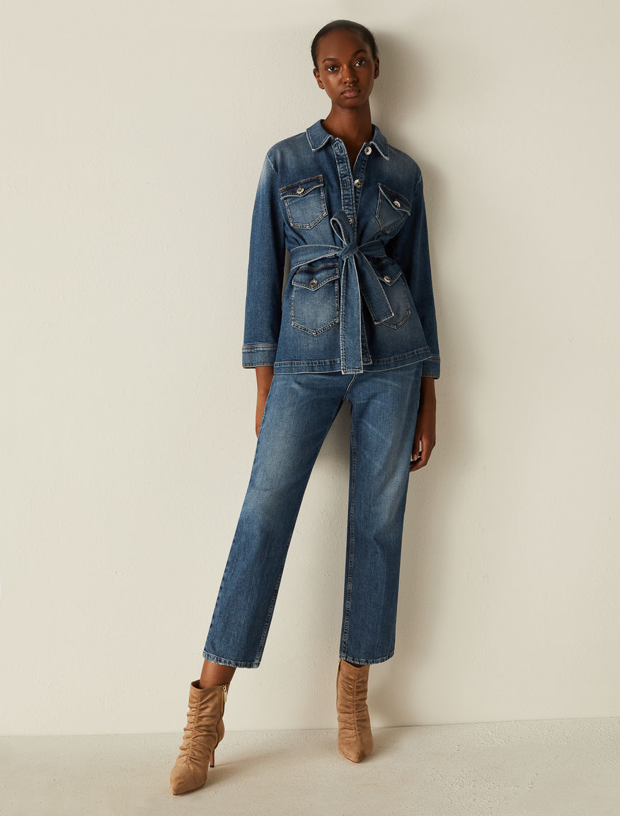 Denim Saharan jacket Marella