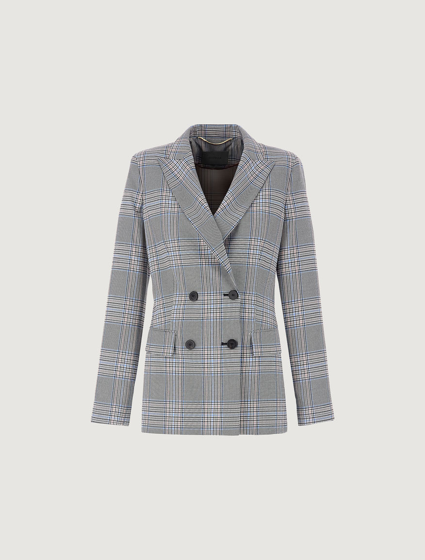 Prince of Wales checked blazer Marella