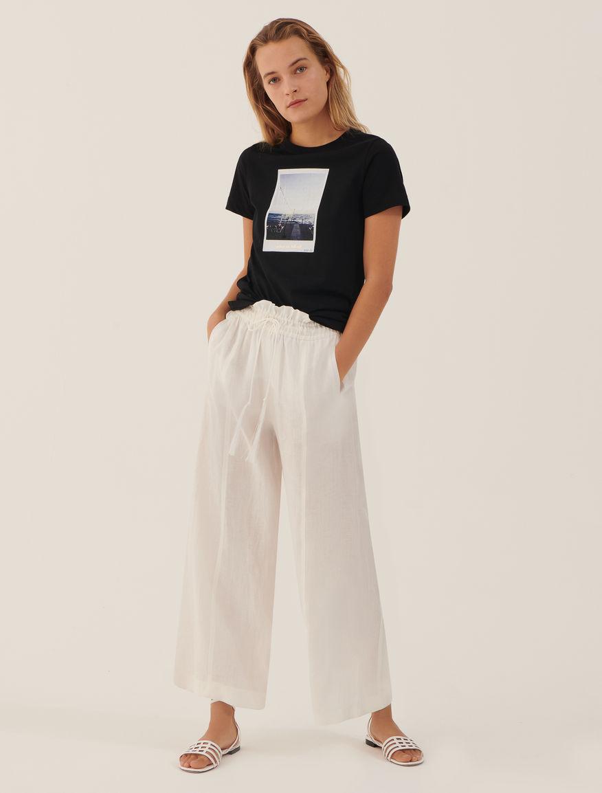 Linen trousers. Marella