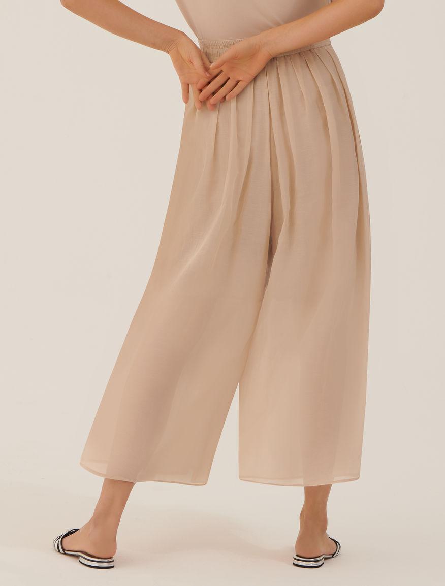 Falda-pantalón de muselina MONOCHROME Marella