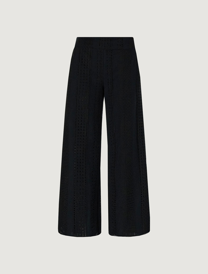 St. Gallen embroidery trousers. Marella