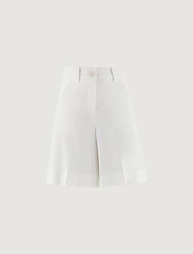 Linen-blend Bermuda shorts MONOCHROME Marella