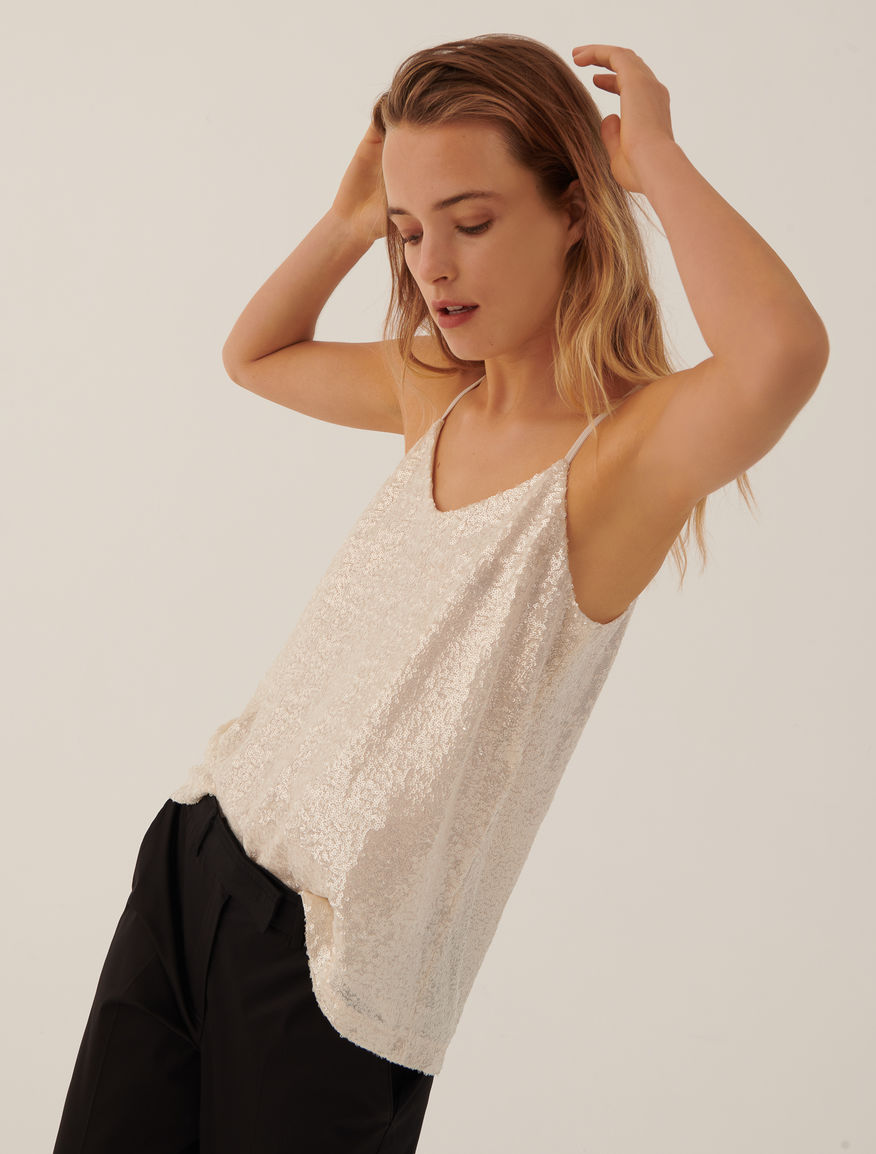 Sequinned top Marella