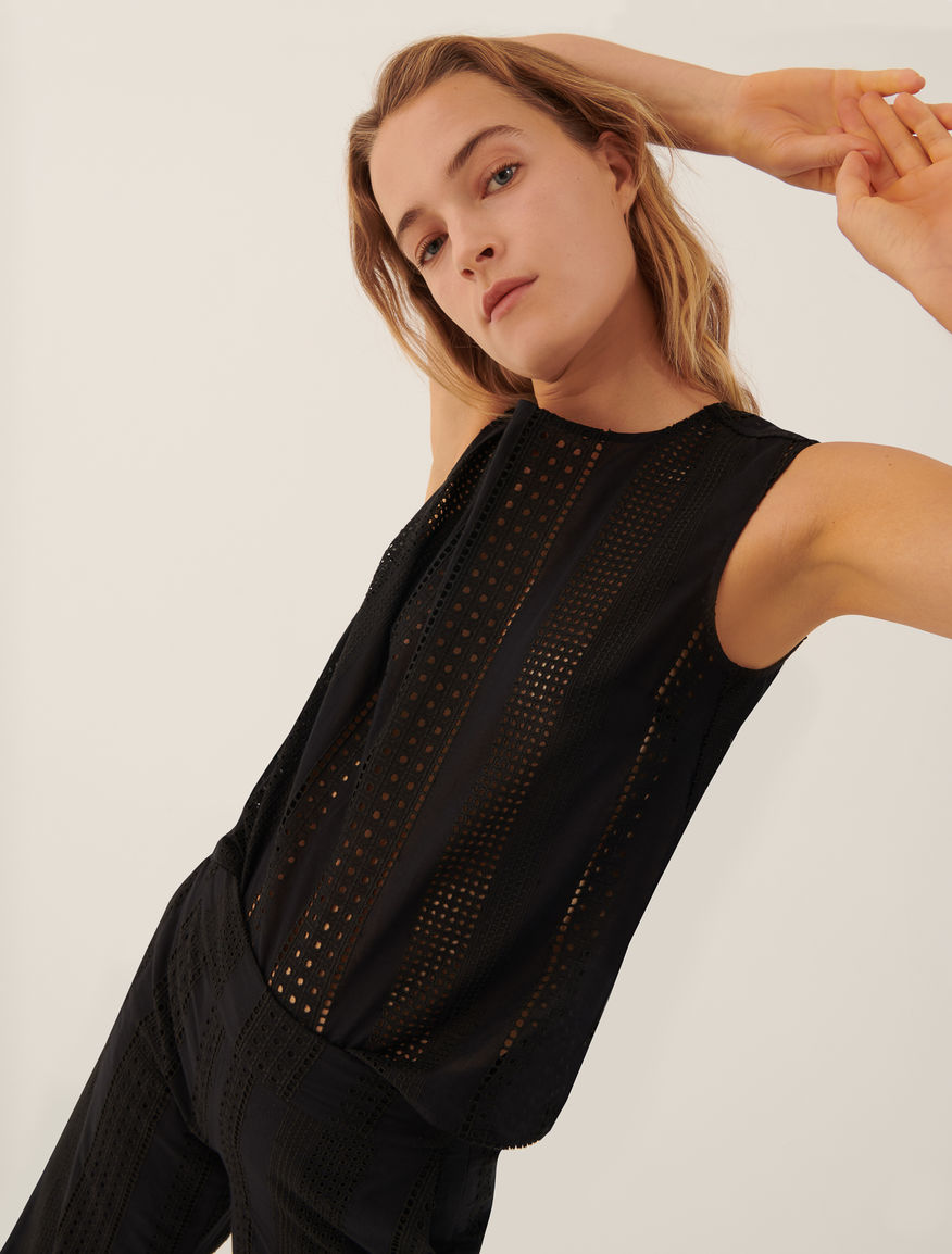 Broderie anglaise top Marella
