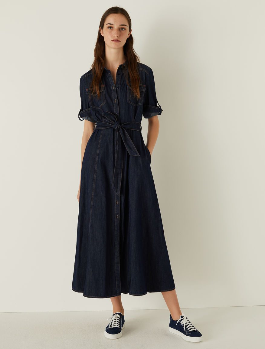 Denim shirt dress Marella