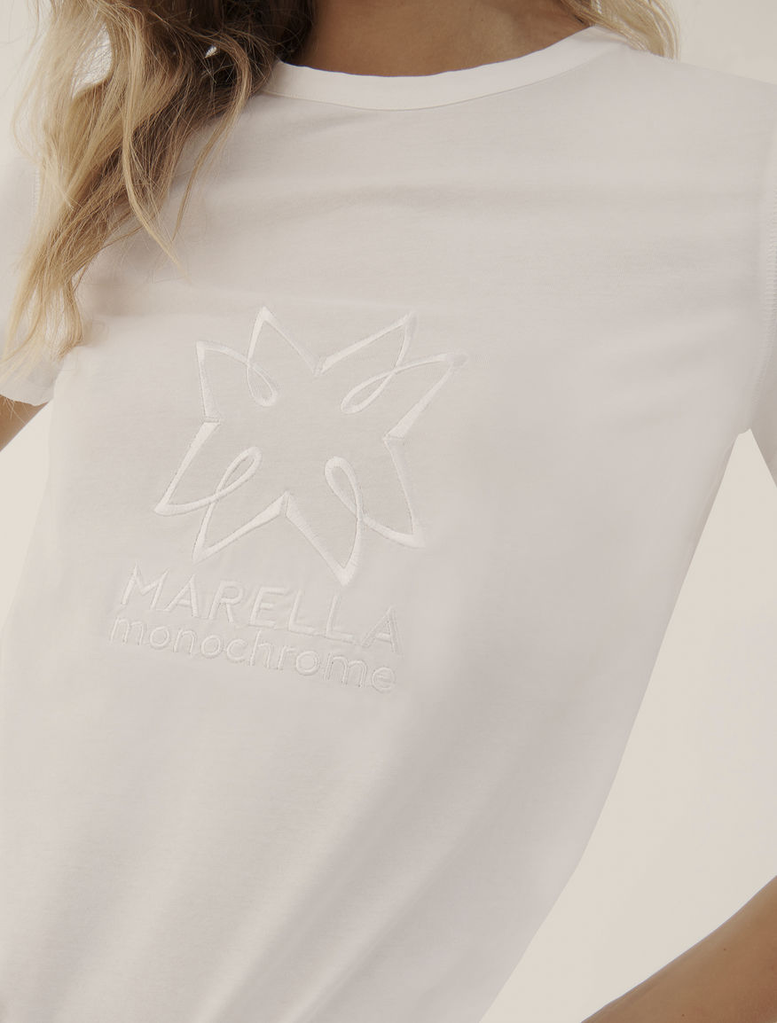 Embroidered T-shirt MONOCHROME Marella