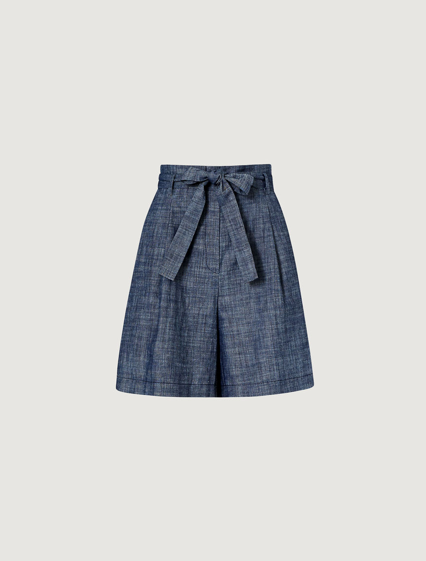 Linen blend shorts Marella