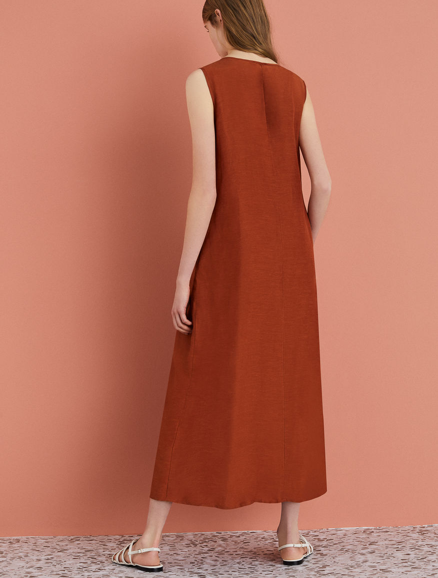 Linen-blend dress Marella