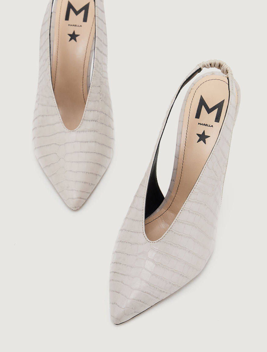 Leather slingbacks Marella