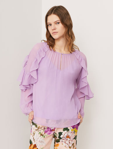 Blouse with flounces Marella