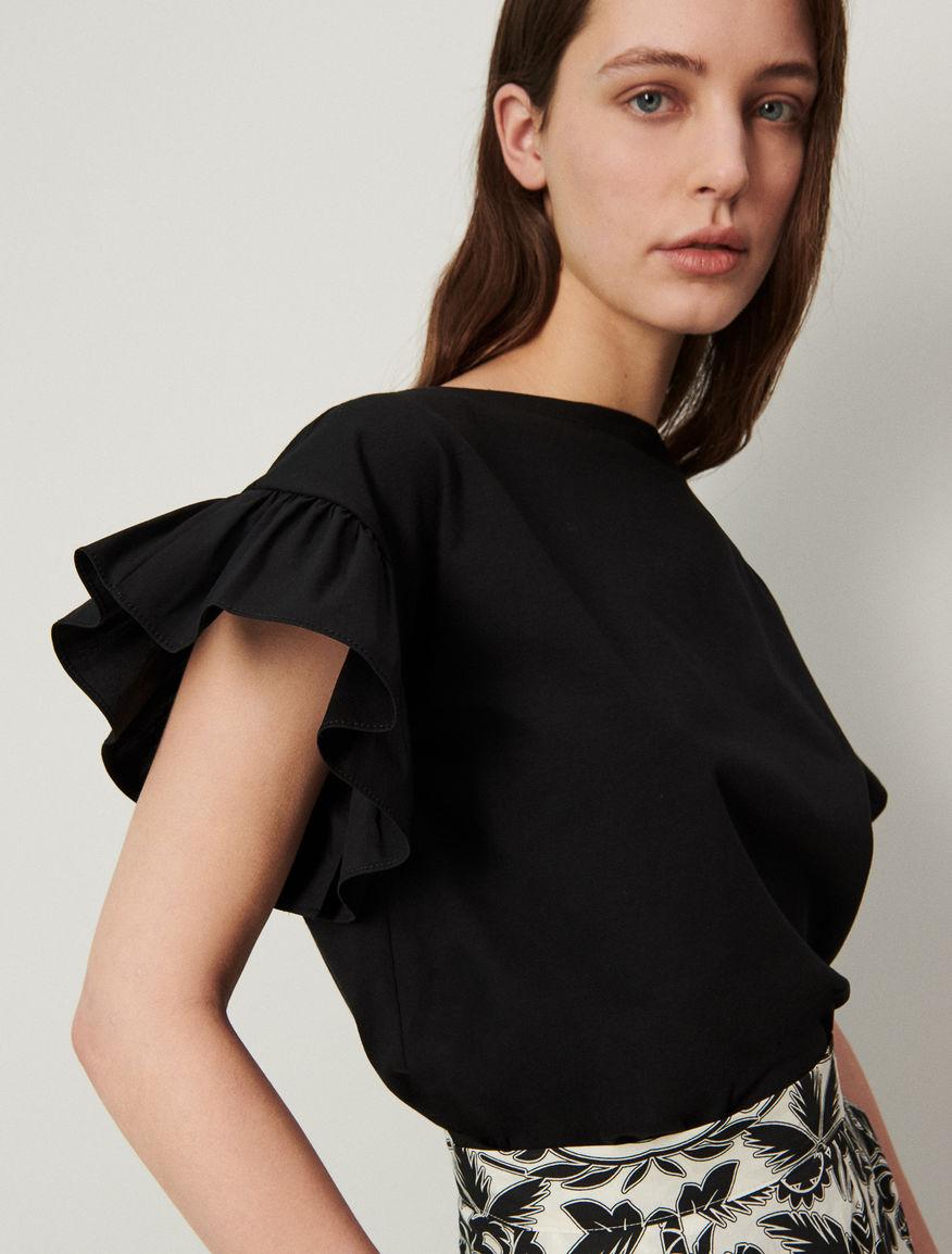 T-shirt with flounce Marella