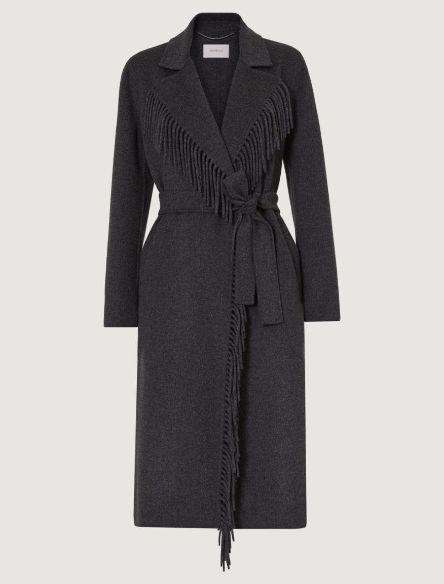 Coat with fringing Marella