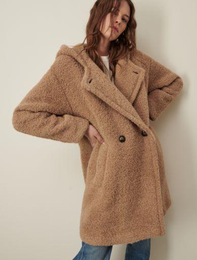 Hooded pea coat Marella