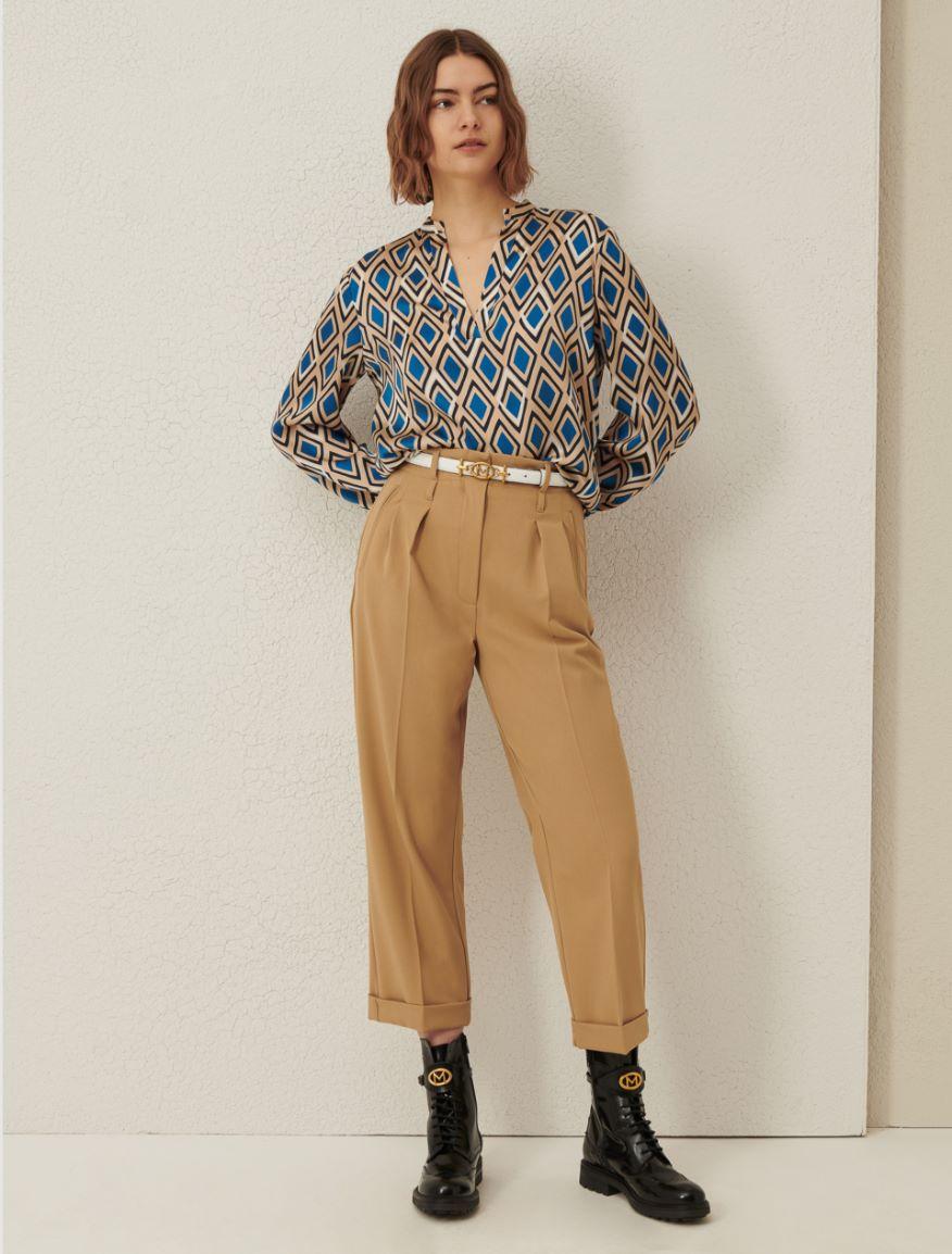 Gabardine trousers Marella