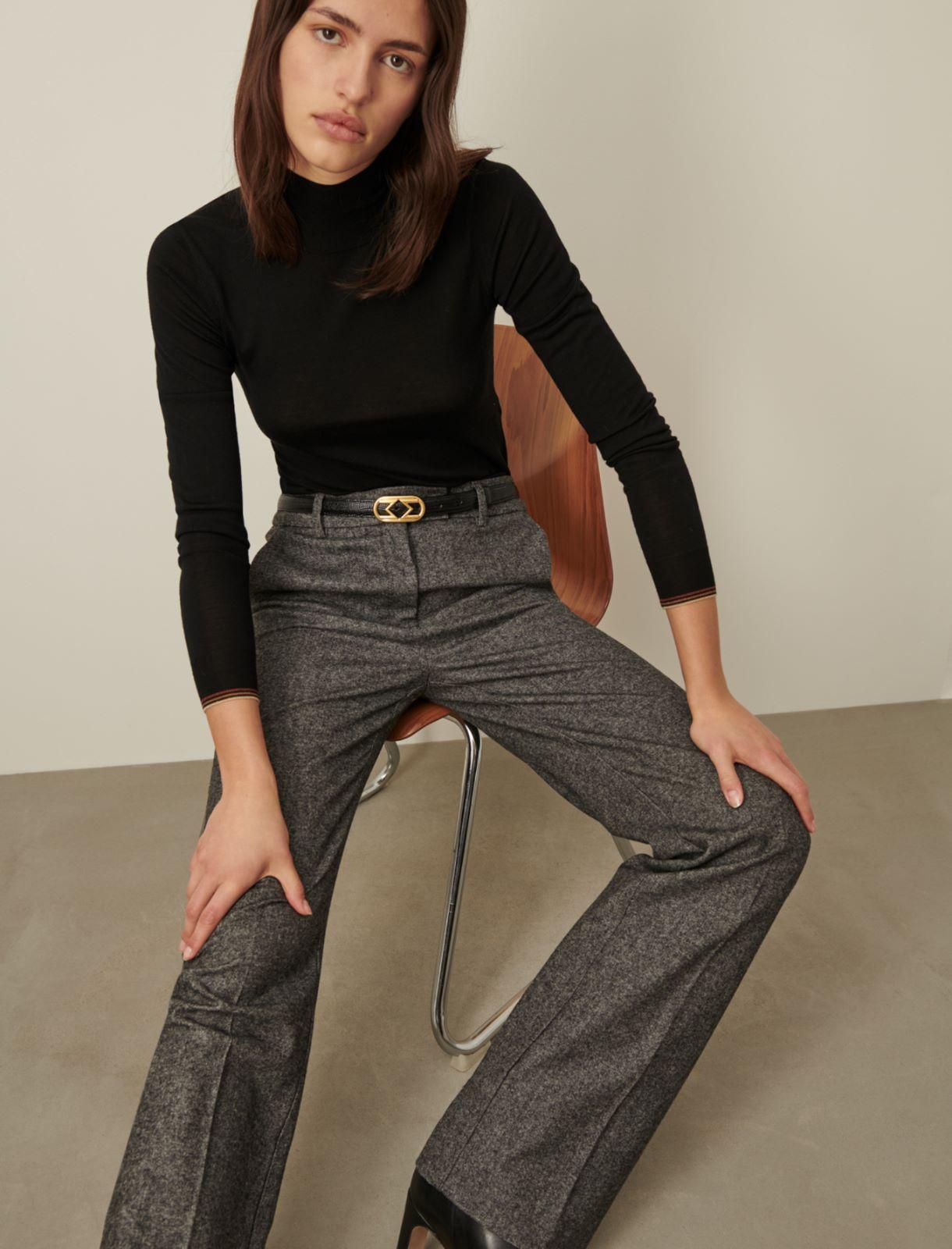 Tweed trousers Marella