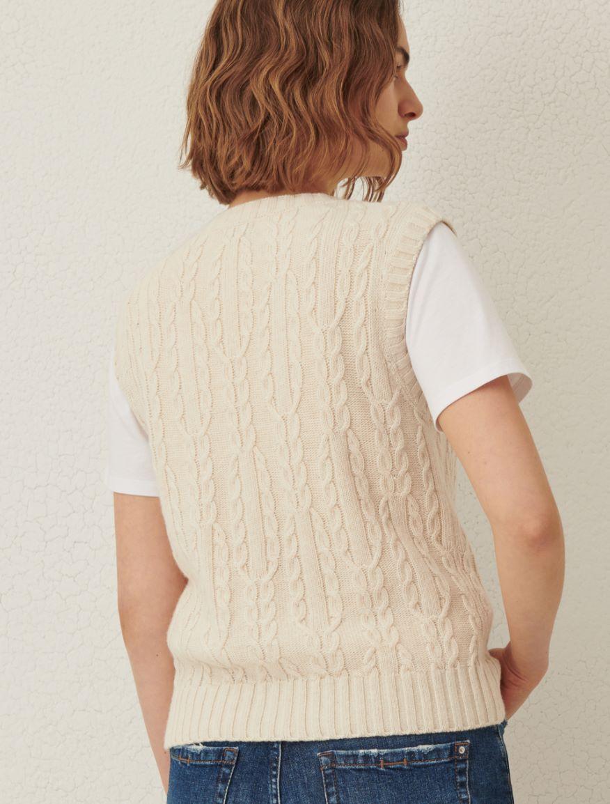Cable-knit gilet Marella