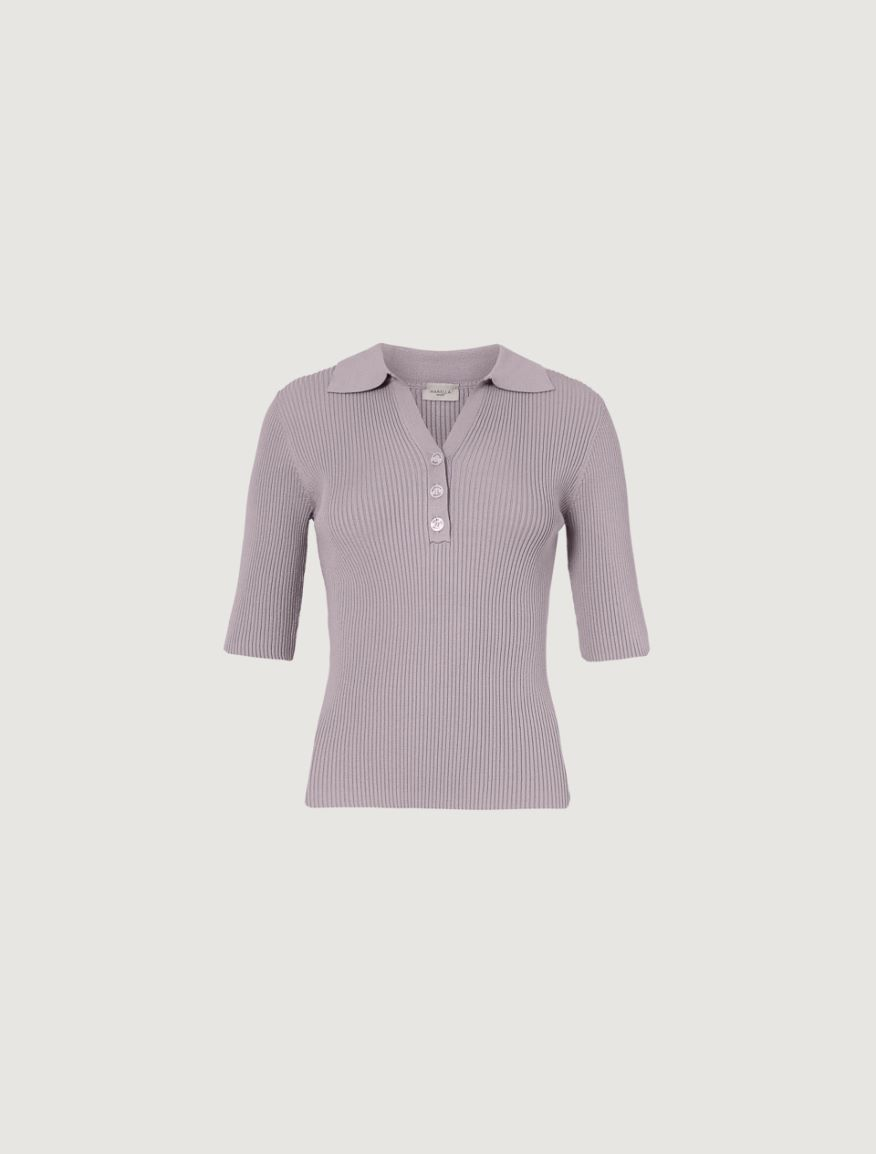 Knitted polo sweater Marella
