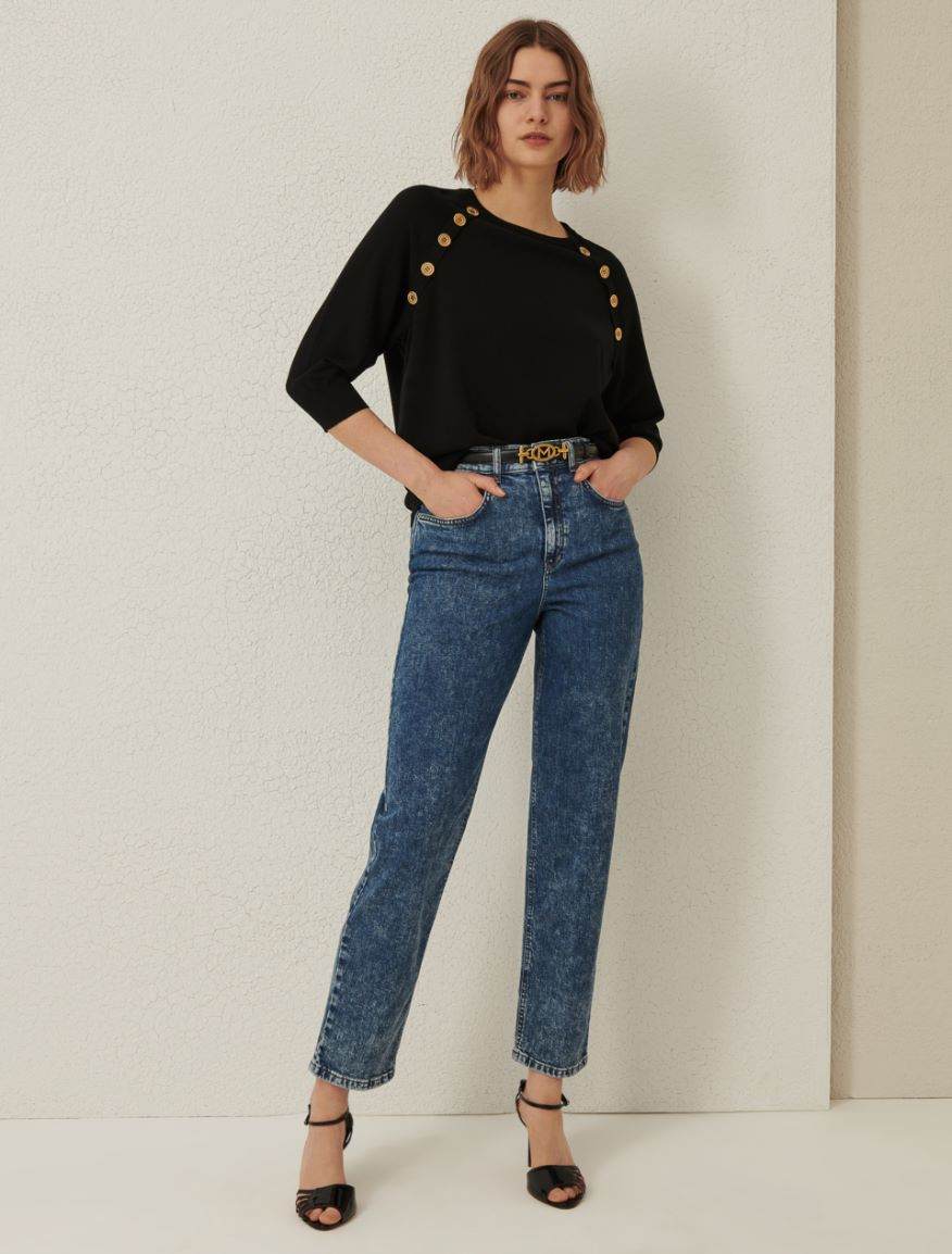 Stockinette-stitched sweater Marella