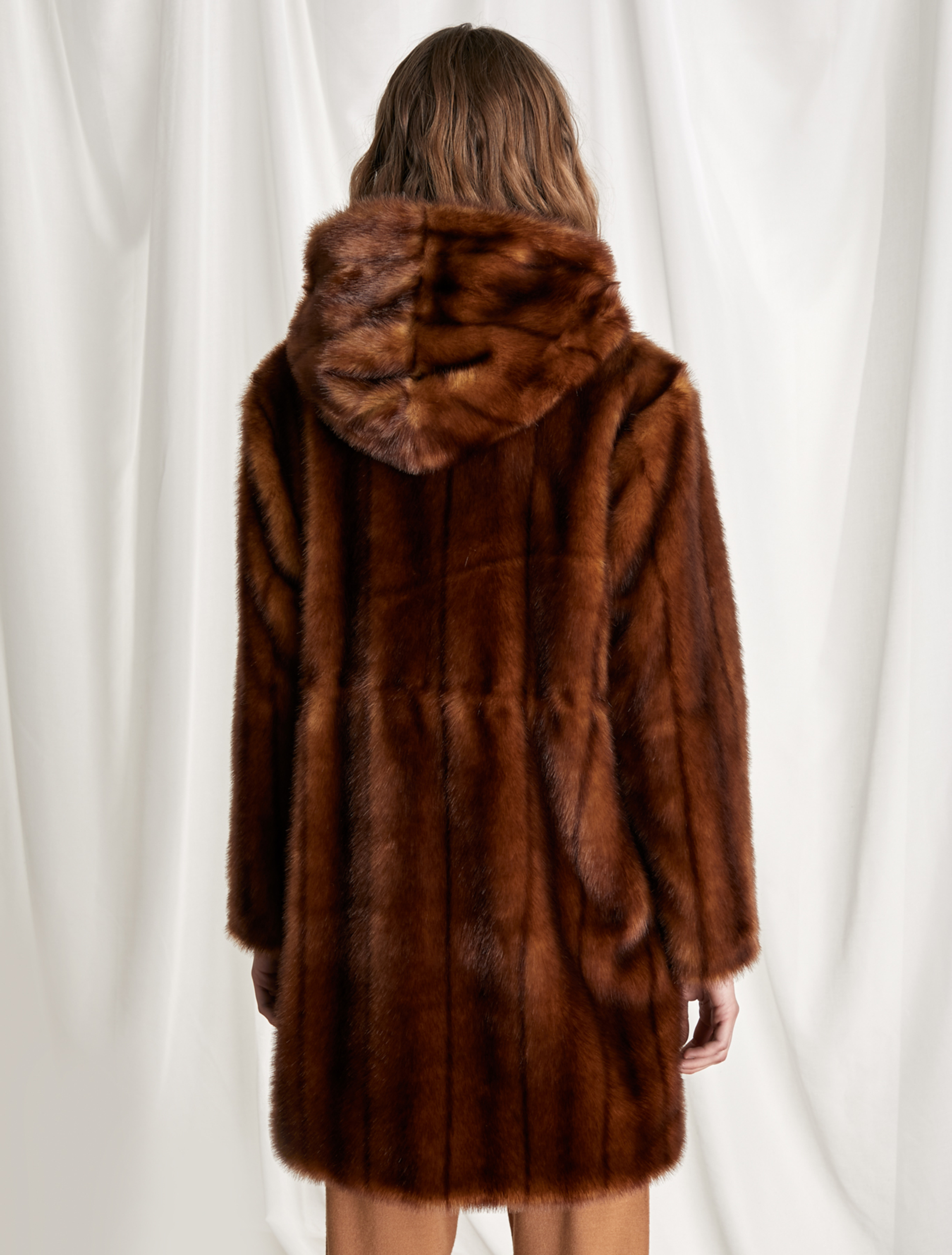 Hooded Parka Brown Marella, How Much Did A Mink Coat Cost In 1980