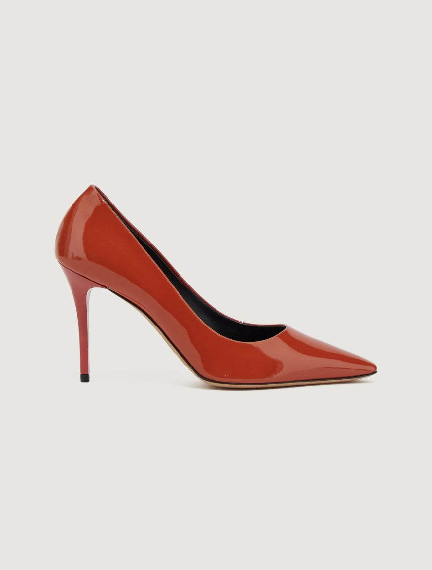 Patent leather court shoes Marella