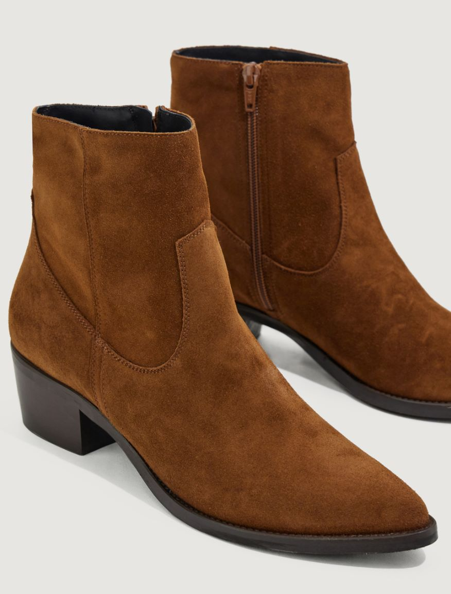 Split leather ankle boots Marella