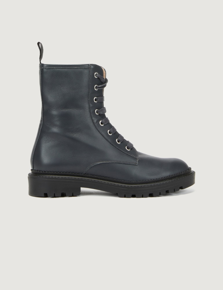 Leather combat boots Marella