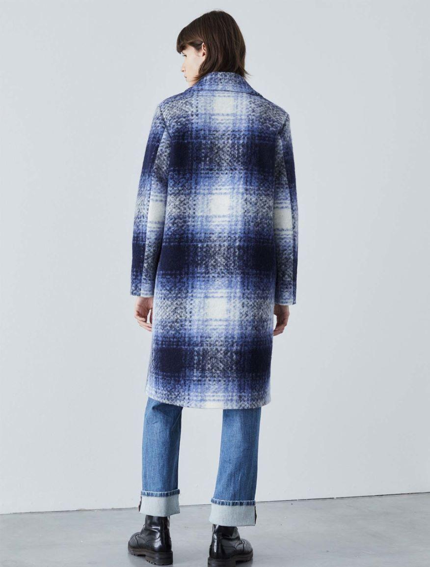 Checked coat Marella