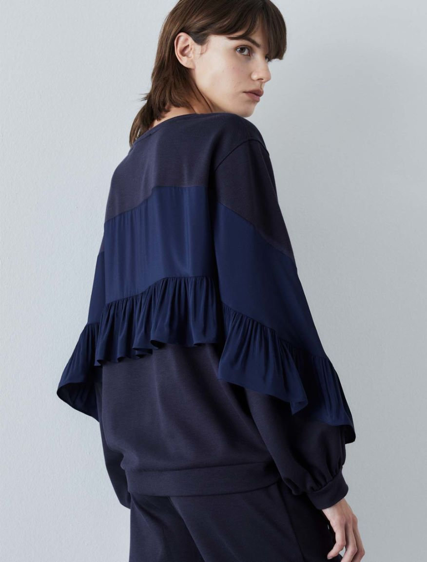 Sweatshirt with flounces Marella